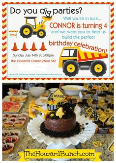 4 year old boy birthday party ideas 2 Festas prep Pinterest