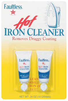 2 Free .17 oz Tubes of Faultless Hot Iron Cleaner