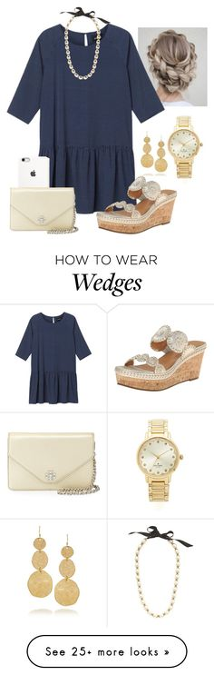 """Fancy/formal set"" by madelyn-abigail on Polyvore featuring Monki, Jack Rogers, Tory Burch, Kenneth Jay Lane, J.Crew, Kate Spade, women's clothing, women's fashion, women and female"