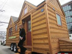 Relaxshacks.com: Tumbleweed in Seattle- a surprise visit from Sharon Read of Seattletinyhomes.com