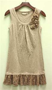 Extend a tank top with added lace to the bottom.
