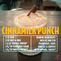 Fireball Whiskey Cinnamilk Punch