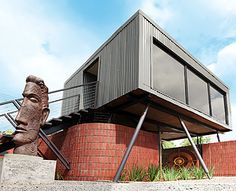 Gallery on Leviseur by Sergio Nunes Architects - Bloemfontein, South Africa Architect House, Architect Design, Timber Cladding, Modern Aesthetics, Container House Design, Affordable Art, Home Art, Facade, Architecture