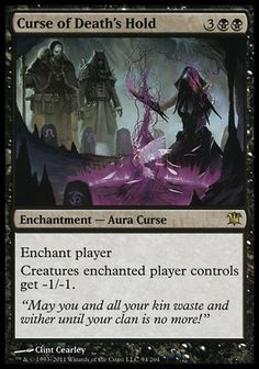 Curse of Death's Hold - Innistrad, Magic: the Gathering - Online Gaming Store for Cards, Miniatures, Singles, Packs & Booster Boxes Magic The Gathering Karten, Magic The Gathering Sets, Eldritch Moon, Mtg Altered Art, Writing Fantasy, Magic Cards, Wizards Of The Coast, Deck Of Cards, Card Games