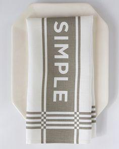 keep it simple grey tea towel Because sometimes we need reminding... $24 Orangehomedecor.com