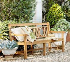 """Teak Garden Bench #potterybarnOverall: 72"""" wide x 25.25"""" deep x 34.75"""" high Seat: 72"""" wide x 18.5"""" deep Seat Height: 16.5"""""""