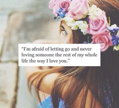 Im afraid, and i cant do this anymore