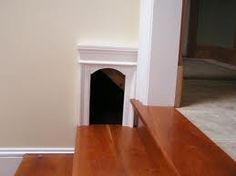 Neat designed cat door but too big for our dog possibilities to get STUCK in cat & Chalkboard painted kitchen door with a painted cat door arch to ... Pezcame.Com