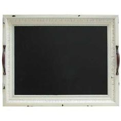White Tray with Chalkboard Wall Decor