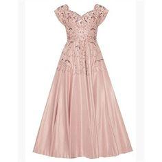 1950s Neiman Marcus Dusky Pink Silk Dress Size 10