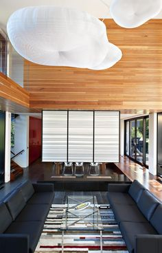 Modern home design - Thorncrest House by Altius Architecture. Photo gallery of this stunning modern residential architecture. Modern Architecture House, Modern House Design, Modern Interior Design, Interior Architecture, Interior And Exterior, Zinc Cladding, Sunken Living Room, Plafond Design, Cabana