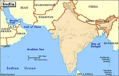 Arabin Sea and Bay of Begal near India..