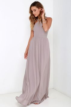 Air of Romance Taupe Maxi Dress at Lulus.com!