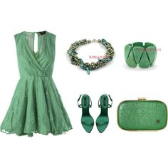 """""""Green"""" by anna99-486 on Polyvore"""