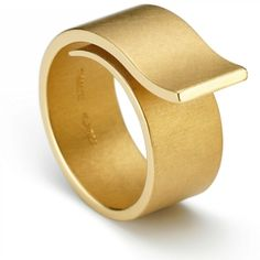 """Niessing Solitaire Loop. »A curved band winds around the finger. Before the two ends can meet again, the band lifts off and floats freely away from the finger. There are two versions: """"Curve"""" and """"Counter-Curve""""."""