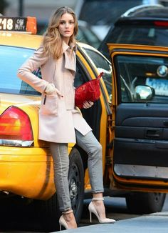 Olivia Palermo At a Photoshoot in Manhattan.
