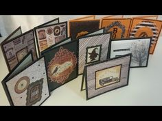 BEST Halloween Card Making Ideas using Recollections Ravenshead Manor Paper Pad with Gold Foil - YouTube