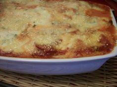 Receita de Lasanha de presunto e queijo.