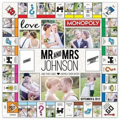 Wedding - custom monopoly board games from Target Photo
