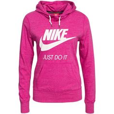 Nike Gym Vintage Hoody ($84) ❤ liked on Polyvore featuring tops, hoodies, fuchsia, jumpers & cardigans, womens-fashion, nike, pink top, vintage hooded sweatshirt, pink hoodies and tall hooded sweatshirt