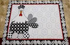 Resultado de imagen para jogo americano patchwork galinha