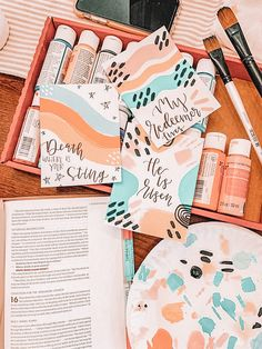 Cute Canvas Paintings, Canvas Art, Bible Doodling, Arte Sketchbook, Aesthetic Painting, Posca, Bible Art, Wall Collage, Art Inspo