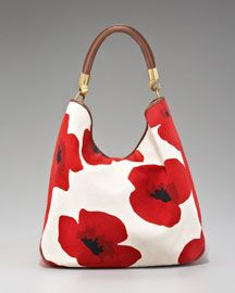 YSL Roday floral print hoboe--too darling for words