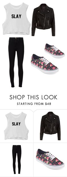 """""""Sin título #36"""" by ludmii-figeroa on Polyvore featuring New Look, Frame Denim y Vans"""