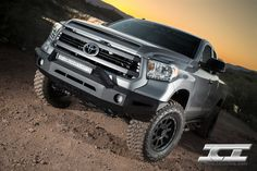 Magnum Bumper for the 2014 Toyota Tundra (pictured with RT-Series Light Bar). Toyota Trucks, Toyota 4runner, Toyota Tacoma, Lifted Trucks, Lifted Tundra, Tundra Truck, 2015 Toyota Tundra, Tundra 2015, Custom Tundra