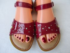 Born women sandals size 8 Burgundy Patent Leather new #Born #Strappy #Casual