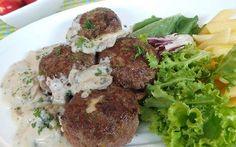 Bola Daging Keju Saus Jamur (Cheese Meatball with Mushroom Sauce) >> recipe in Indonesian Language from detikfood