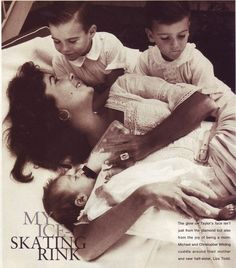 Elizabeth Taylor, newborn Liza Todd, Christopher Wilding, Michael Wilding Jr  1957