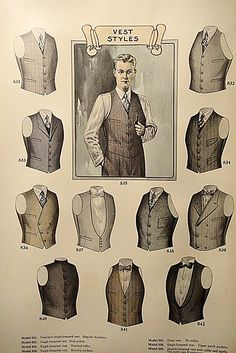 vest styles - learn them if you aspire to wear them...