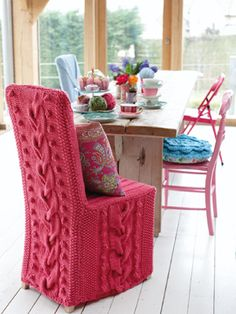Chair Cover  http://www.laughinghens.com/knitting-patterns.asp?name==latest==blanket=y=72#