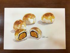 #蛋黃酥#水彩練習
