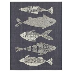 Navy Fish Outdoor Rug - Threshold™