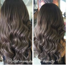 Silvery grey ash hair color