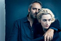 Kate Winslet with her husband.