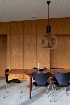 wood modern leather lamp dining concrete  Japanese Trash masculine design inspiration