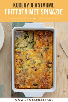 Frittata With Spinach - This oven-baked frittata with spinach is super simple, tasty and healthy. You can serve it for brea - Super Healthy Recipes, Low Carb Recipes, Macro Meals, Go For It, Low Carb Lunch, Mediterranean Recipes, Weight Watchers Meals, High Tea, Love Food