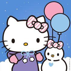 Hello Kitty Christmas, Christmas Cats, Christmas And New Year, Hello Kitty Backgrounds, Hello Kitty Wallpaper, Sanrio, White Textured Wallpaper, Hello Kitty Vans, Apple Watch Faces