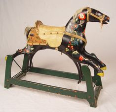Child's Victorian Horse Rocker ...gorgeous, she's even wearing horse shoes! (click through for more photos)