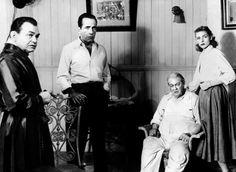 "Edward G. Robinson, Humphrey Bogart, Lionel Barrymore and Lauren Bacall in ""Key Largo"".  photo courtesy of the Humphrey Bogart Estate."