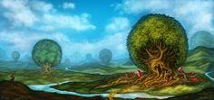 ArtStation - Environment Concept - Trees, Nyra Drakae