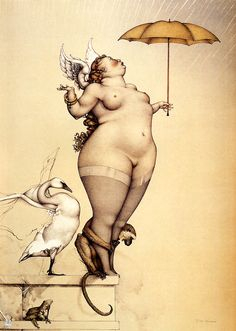Rain by Michael Parkes