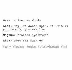 Hahahaha. Magnus is a fan of the kiss and swallow