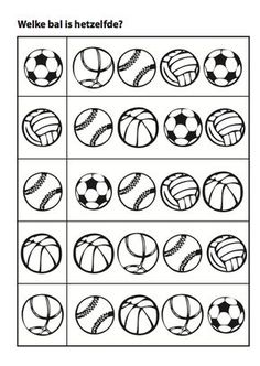Sports matching balls activity page Creative Activities For Kids, Preschool Learning Activities, Toddler Activities, Preschool Activities, Teaching Kids, Kids Learning, Visual Perception Activities, School Sports, Preschool Worksheets
