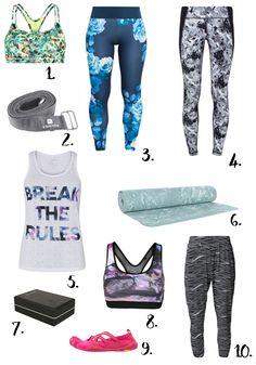sélection shopping équipement yoga