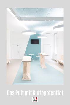 C3 - Das Pult mit Kultpotential. Stehtisch für moderne Einrichtung und vielfältigen Einsatz im Büro, auf der Messe, zuhause oder auf der Bühne. Stehpult aus Glasfaserverstärktem Kunststoff gefertigt. Auch für Draußen geeignet. Info unter +43 699 15990977 #stehtisch, #stehpult, #RiesProDesign Designer, Loft, Bed, Furniture, Home Decor, Stand Up Desk, Pedestal Desk, Modern Interiors, Product Design