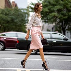 Instagram media by netaporter - @chungalexa shows the power of the polka-dot at #NYFW. #StreetStyle Photograph by @theurbanspotter